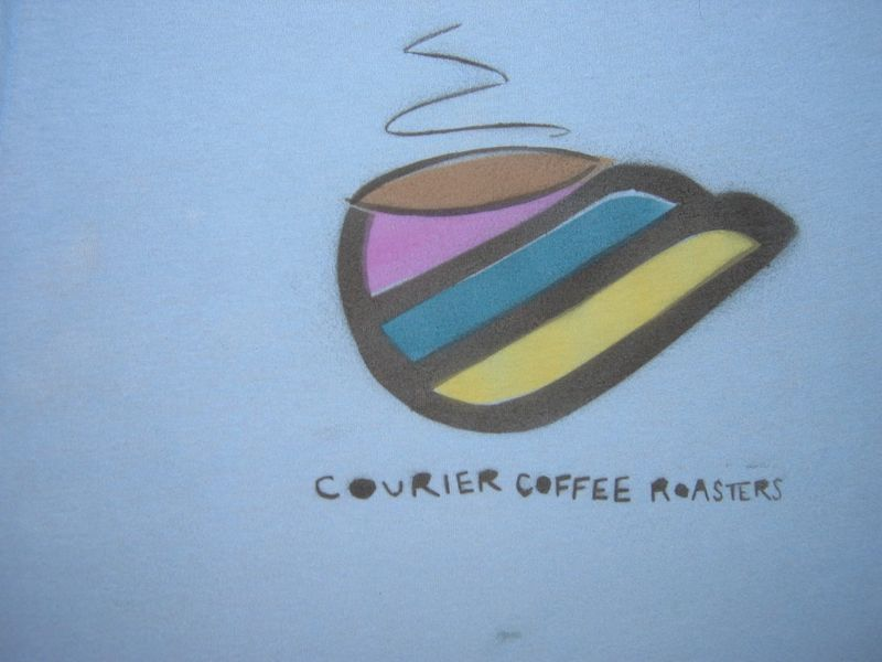 Courier Coffee Roasters Stencil 2