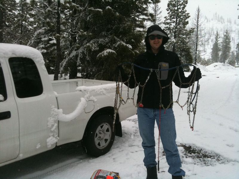 HOW TO PUT SNOW CHAINS ON YOUR TRUCK MAN MOVIE MONTH