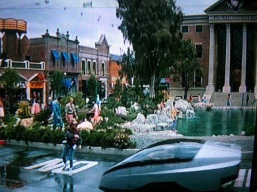 MARTY MCFLY CHECKING OUT THE FIRST FUTURE PRIUS MAN MOVIE MONTH