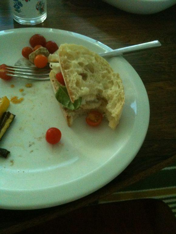Caprese sandwich: summer bounty