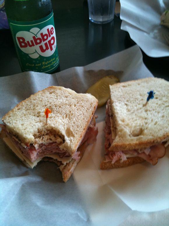 Italian sandwich, Bailey's bakery and cafe, Nahcotta, WA