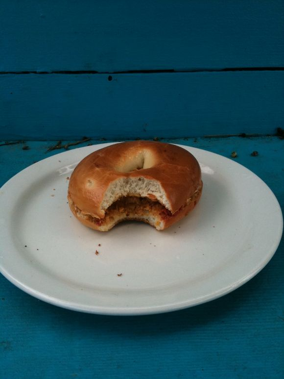 PBJ BAGEL! Lunch standard with a twist(or a circle?)