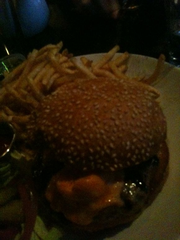 Pimento cheeseburger, Savoy restaurant, Portland, OR