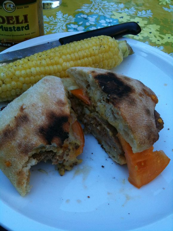 BBQ Italian sausage sandwich, my house, Portland, OR