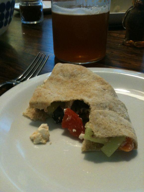 Greek salad sandwich, Britt's recipe, Portland, OR