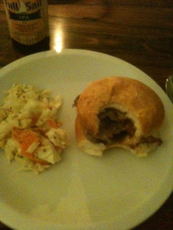 Steak and chanterelle sandwich, dinner