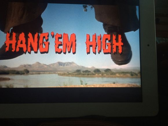 Elevate your wound: Hang Em High