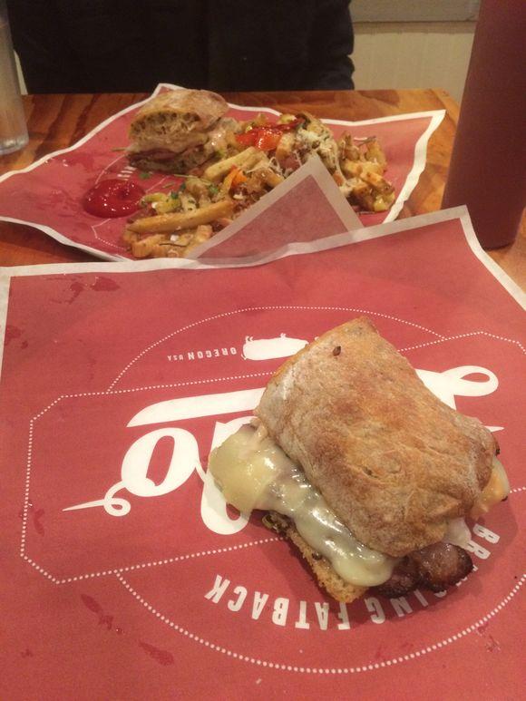 Reuben + dirty fries / lardo east side